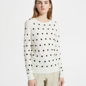 Theory Polka-Dot Wool Sweater
